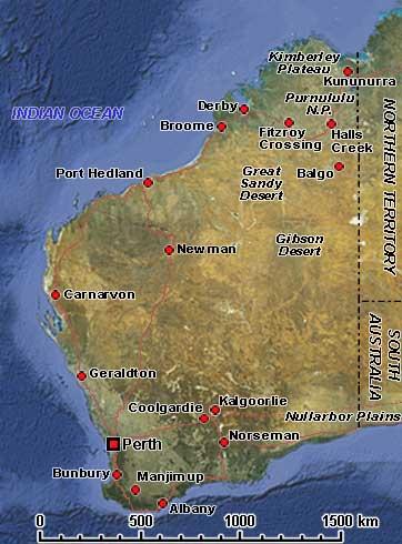 Western Australia Australia Photos History OzOutback - Map of western australia